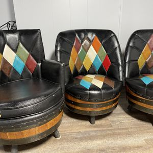Vintage Black Barrel Chairs for Sale in Bridgeview, IL