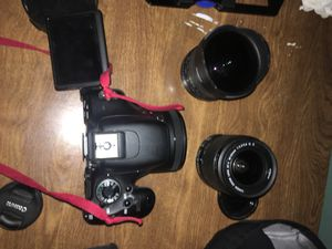 Canon T3i kit with 3 lenses, bag, microphone, and accessories for Sale in Philadelphia, PA
