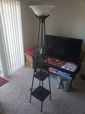 Floor lamp - Glass shades- excellent CONDITION for Sale in Vienna, VA