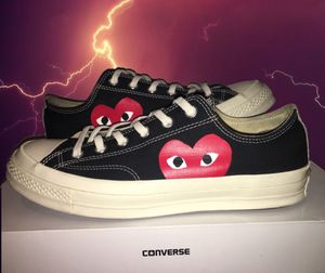 Cdg Comme Des Garçons converse low black for Sale in Mesa, AZ