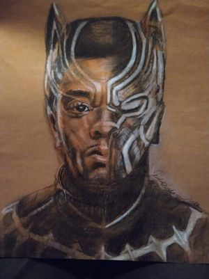 Custom Chadwick Boseman Black Panther Chalk Pastel Drawing for Sale in Suitland, MD