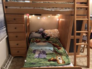 Twin-sized Bunk Beds With Desk and Chair for Sale in Leesburg, VA