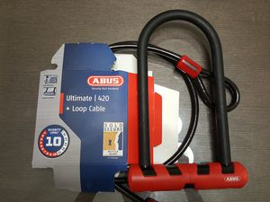 ABUS bicycle U-lock + cable set for Sale in Chicago, IL