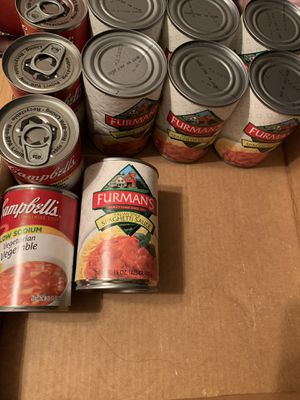 Canned goods $1 each can selling at store for $2 for Sale in MURRIETA, CA