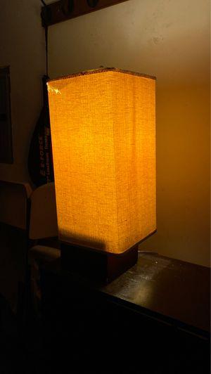 Lamp nice burlap shade for Sale in San Francisco, CA