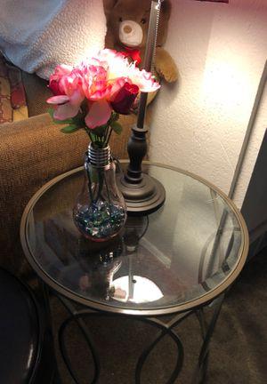 Glass side table for Sale in Salt Lake City, UT