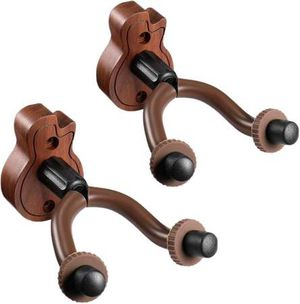 Guitar Wall Mount Hanger 2-Pack, Guitar Hanger Wall Hook Holder Stand for Bass Electric Acoustic Guitar Ukulele for Sale in Pomona, CA