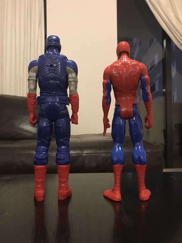 Spiderman and Captain America (MARVEL)