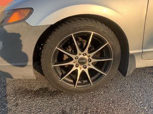 Set of rims with tires - theft proof lug nuts(READ) for Sale in Old Mill Creek, IL