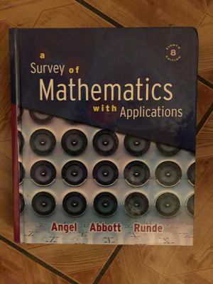a survey of mathematics with application 8th edition for Sale in Anaheim, CA