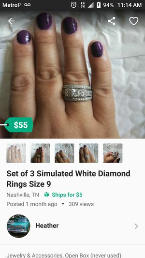 Size 9 Ring Wedding Rings for Sale in Nashville, TN