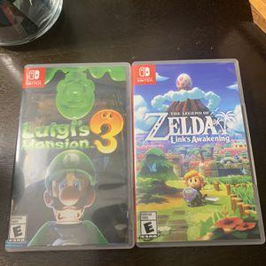 Luigis Mansion 3 And Legend Of Zelda: Links Awakening (Switch Games) for Sale in Fort Lauderdale, FL
