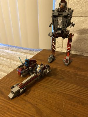 LEGO Star Wars Baarc Speeder with sidecar and AT-ST for Sale in Phoenix, AZ