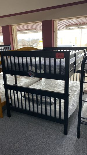 Dark Brown Full over Full Size Wooden Bunk Bed Only CC77H for Sale in Irving, TX