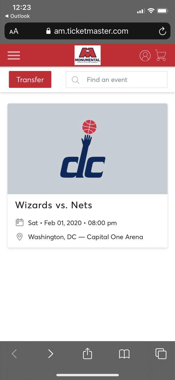 Wizards Vs Nets Tickets (4)