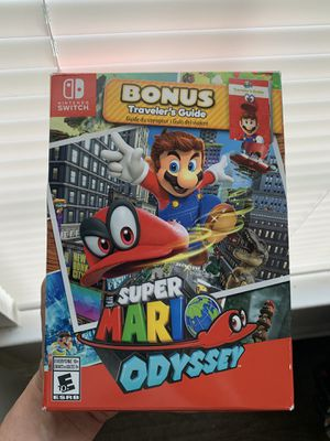 Super Mario Odyssey (Bonus Traveler's Guide)- Nintendo Switch for Sale in Irving, TX