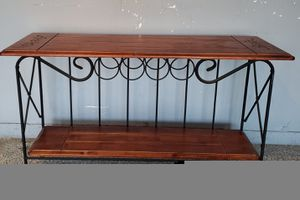 Wine bottle rack with hardwood table top for Sale in Moreno Valley, CA