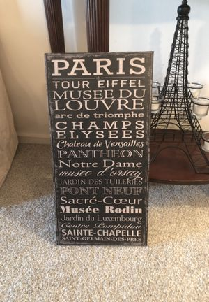 """Cute French canvas. About 24"""" high. for Sale in Alexandria, VA"""
