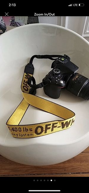 Off white camera strap Nikon Sony canon dslr STRAP ONLY for Sale in Fort Lauderdale, FL