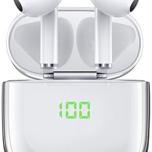 Wireless Earbuds,True Bluetooth 5.0 Headphones with USB-C & Wireless Charging Case,VEATOOL Hi-Fi Stereo & Waterproof 30H Playtime Twins Bluetooth Earp for Sale in Brooklyn, NY