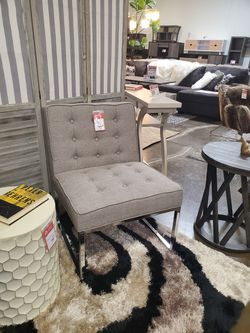Stylish Chrome Accent Chair, Grey for Sale in Westminster,  CA