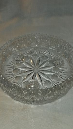 Vintage Early American Pressed Glass Candle Holder for Sale for sale  Grand Blanc, MI