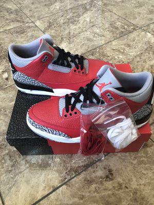 Jordan 3 fire red for Sale in Sterling Heights, MI