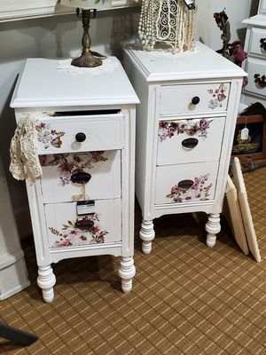Pair of side tables 13.5x17x30.5 for Sale in Norfolk, VA