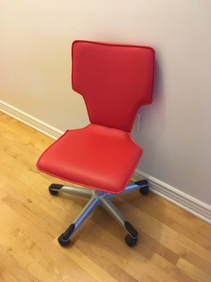 Faux leather red chair for Sale in Salt Lake City, UT