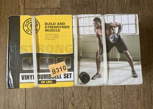 Gold's Gym 40 lbs Vinyl Dumbbell Weightlifting Set Brand New for Sale in New York, NY