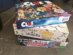 Monopoly, Diary of a wimpy kid, Clue Board games for Sale in Las Vegas, NV
