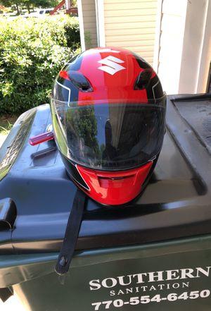 Suzuki Motorcycle helmet Red- sz Medium for Sale in Lithia Springs, GA