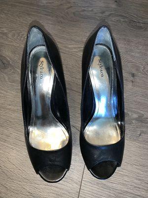 Black open toe heels for Sale in Morrisville, PA