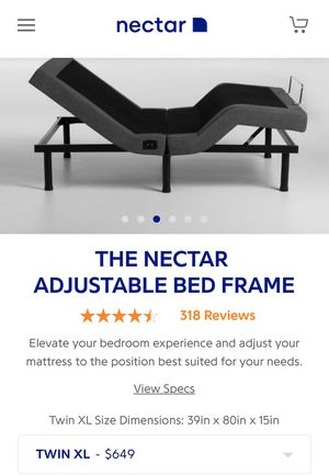 Nectar - twin xl adjustable bed frame with remote for Sale in Miami Beach, FL