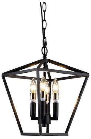 Black 4-light pendant Geometric Chandelier for Sale in Fort Lauderdale, FL
