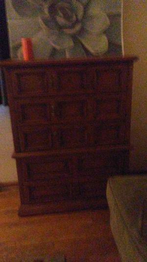 Highboy dark wood dresser for Sale in Columbus, OH
