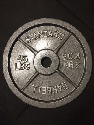6 45 lb plates weights for Sale in Canoga Park, CA