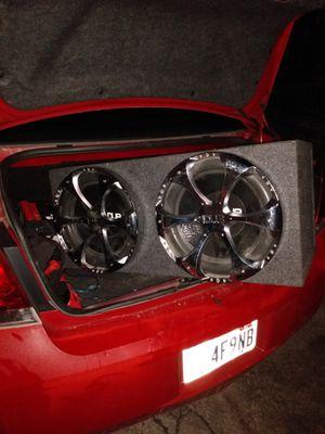 "Two 15"" Audiobond an a 3600 watt mono block for Sale in Salt Lake City, UT"