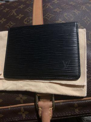 Louis Vuitton Epi Porte 2 Cartes Vertical Black Leather Pass Card Case for Sale in Lorain, OH