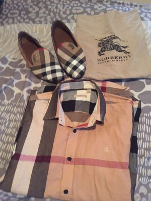Burberry shirt and loafers for Sale in Greensboro, NC