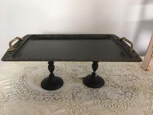 Buffet Table Tray- Black and Gold for Sale in North Las Vegas, NV