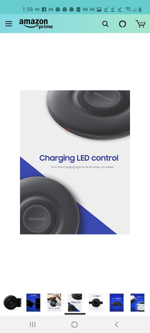 Samsung wireless charging pad with cooling fab for Sale in Sugar Hill, GA