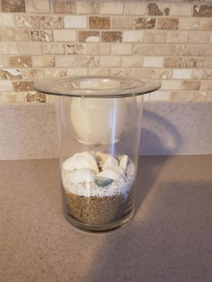 Battery operated shell candle holder for Sale in Forked River, NJ