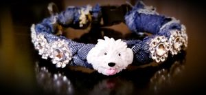 Hand made braided denim dog/cat collars with bling for Sale in Victoria, TX