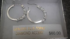 Topaz & diamond hoops for Sale in Nashville, TN