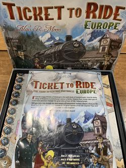 Ticket To Ride Europe Board Game By Days of Wonder Complete for Sale in Newark,  CA