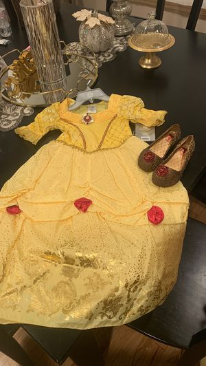 NEW Belle dress with shoes! Still with tags from Disney store for Sale in West Covina, CA