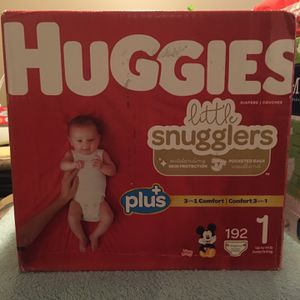 Huggies Little Snugglers Diapers, Size 1 for Sale in Staten Island, NY