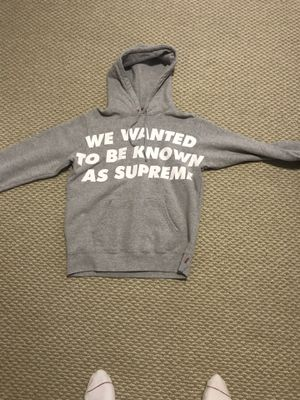 We wanted to be known as supreme hoodie mens medium washed once never worn for Sale in Greensboro, NC