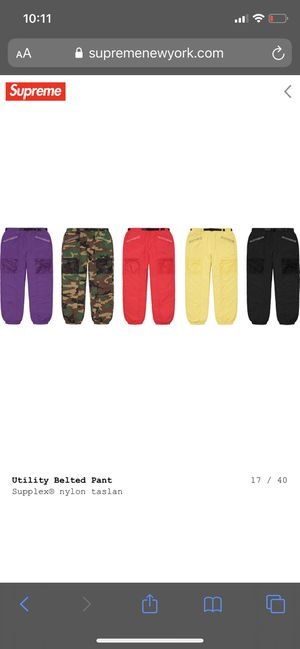 Supreme utility belted pants for Sale in Fontana, CA